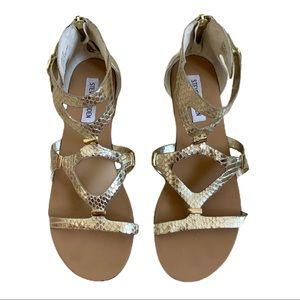 Steve Madden Gold Gladiator Sandals
